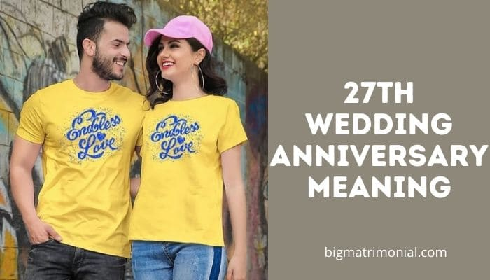 27th wedding anniversary meaning