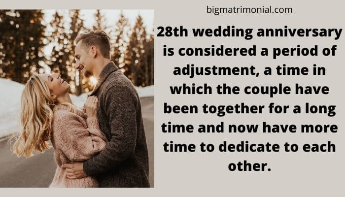 28th Wedding Anniversary Meaning