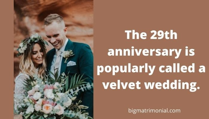 29th Wedding Anniversary Meaning