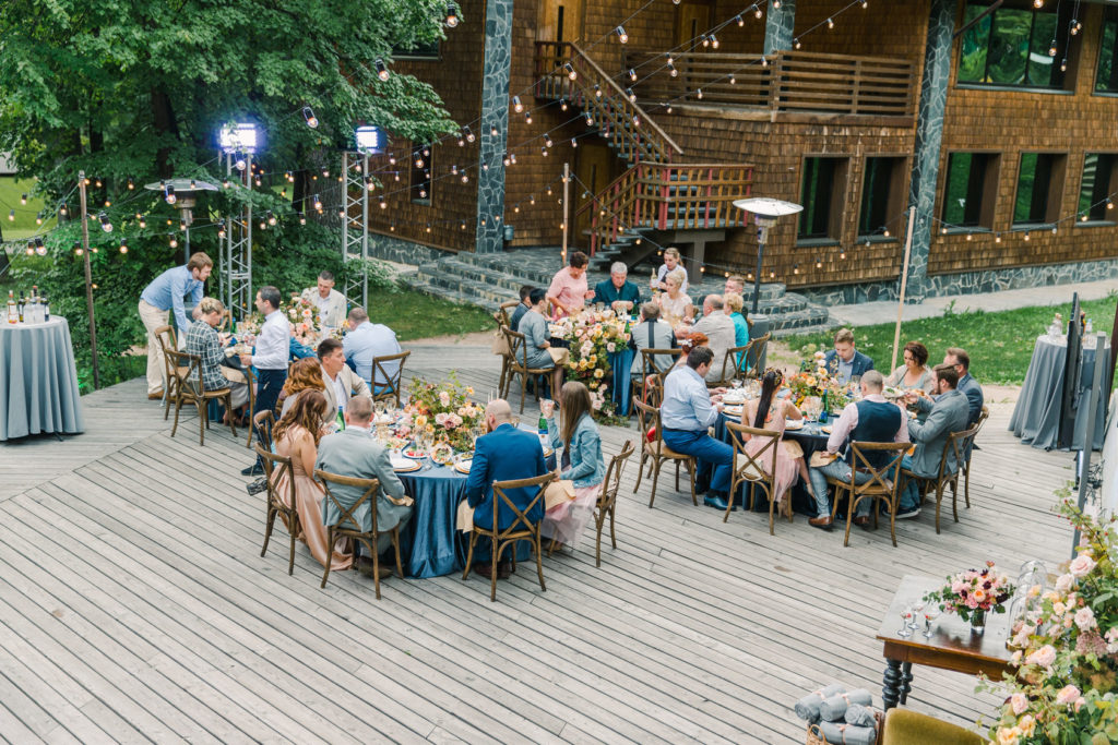 Outdoor wedding on the terrace