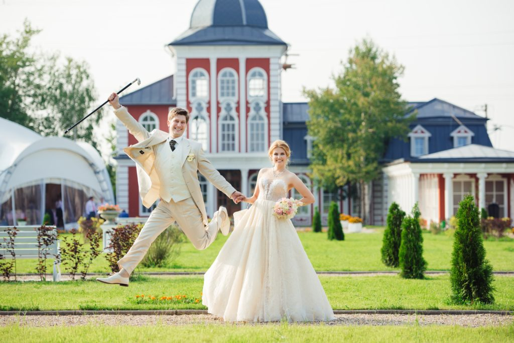Outdoor wedding in noble style