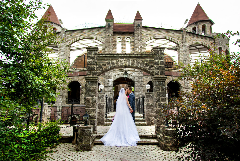 Castle wedding in nature